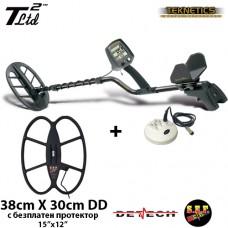 Металотърсач Teknetics T2 Ltd MEGA+ с най-нов софтуер DST и с 3 търсещи сонди и подаръци