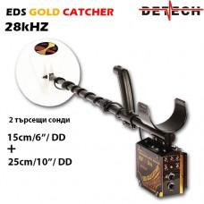 Металотърсач Detech EDS Gold Catcher 28Khz 2 сонди и подаръци