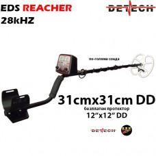 Металотърсач Detech EDS Reacher - 28kHhz 31x31 и подаръци