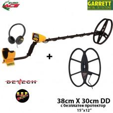 Металотърсач Garrett EURO ACE Mega+ с 2 сонди и подаръци