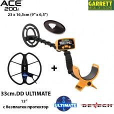 Металотърсач Garrett ACE 200i Mega ULTIMATE с 2 сонди и подаръци