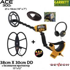 Металотърсач Garrett ACE 300i Mega+ с 2 сонди и подаръци