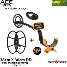 Металдетектор Garrett ACE 200i Mega+ с 2 сонди и подаръци