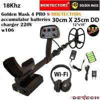 Металотърсач Golden Mask 4 PRO S-W106 MDETECTORS - 18Khz с 30х25cm. SEF DD сонда