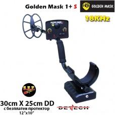 Металотърсач Golden Mask 1+ S - 18Khz с базова 30х25cm. SEF DD сонда и подаръци