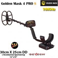 Металотърсач Golden Mask 4 PRO S - 18Khz с базова 30х25cm. SEF DD сонда и подаръци