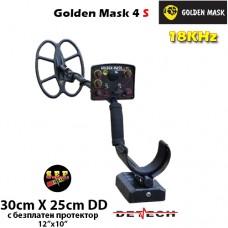 Металотърсач Golden Mask 4 S - 18Khz с базова 30х25cm. SEF DD сонда и подаръци