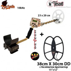 Металотърсач Tesoro Deleon - 10kHhz Mega+ с 2 сонди и подаръци