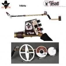 Метал детектор Tesoro Outlaw с 3 търсещи сонди - 10kHhz и подаръци