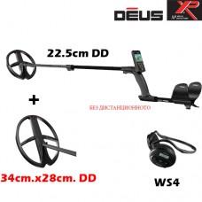 Металотърсач XP DEUS v.4 - Mega WS4-22см.-34x28см. 2 сонди и подаръци